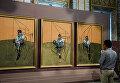 "Картина Фрэнсиса Бэкона ""Три этюда Люсьена Фрейда"". Галерея Боргезе"