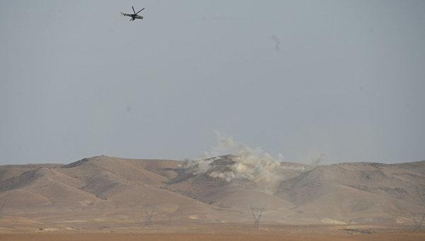 Боевые действия сирийской армии в окрестностях Пальмиры. Архивное фото