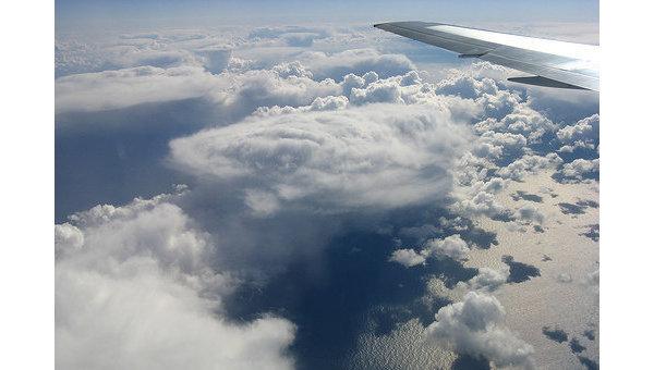 Атлантический океан. Вид из самолета