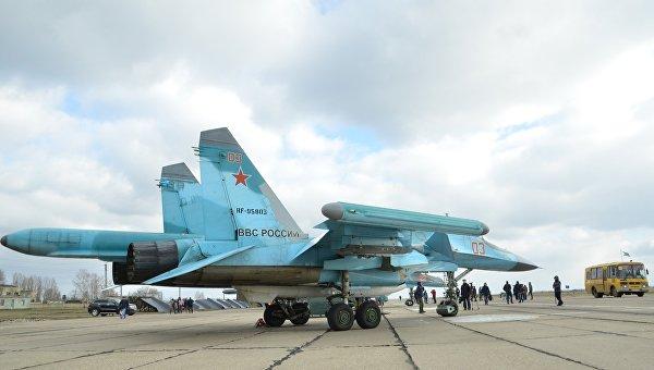 Бомбардировщики Су-34. Архивное фото