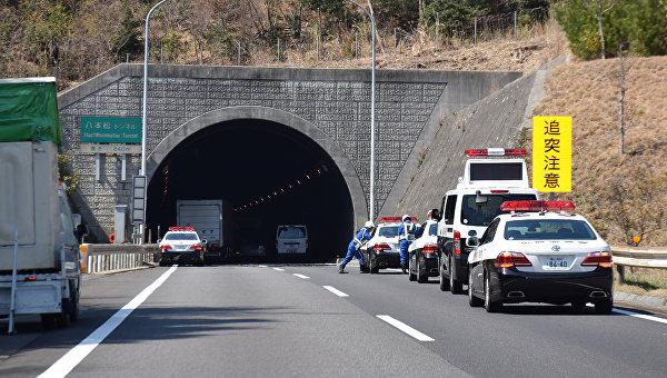Пожар в тоннеле на юго-западе Японии. 17 марта 2016