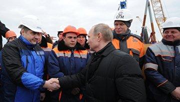 Рабочая поездка президента РФ В. Путина в Крымский федеральный округ