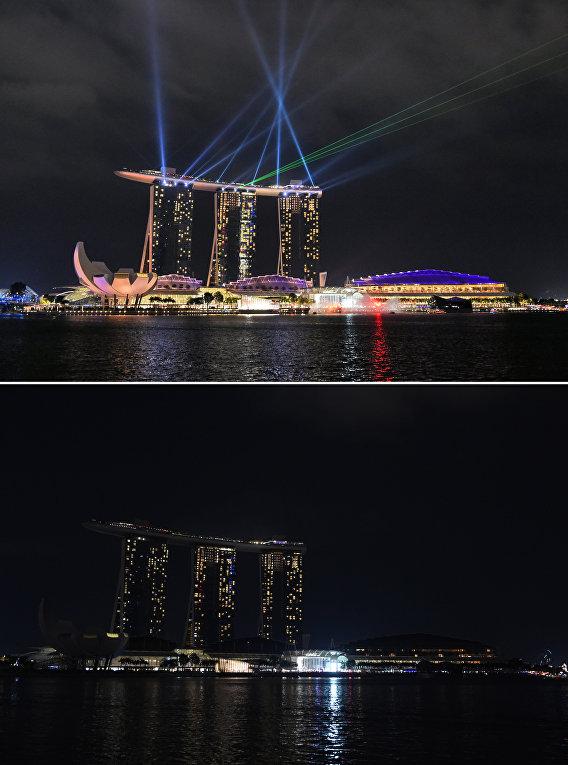 Экологическая акция Час Земли в Сингапуре