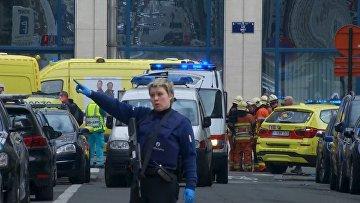 На месте взрыва в метро Брюсселя. 22 марта 2016