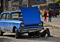 Автомобиль Москвич советского производства на улице Гаваны, Куба