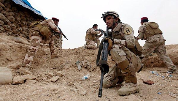 Иракский солдат во время военной операции в Мосуле, Ирак
