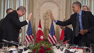 Президент США Барак Обама и президент Турции Тайип Эрдоган. Архивное фото
