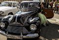Автомобиль BMW 340 (EMW 340) 1950 года на выставке ретро-автомобилей в Санкт-Петербурге