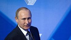 Президент РФ В. Путин принял участие в пленарном заседании межрегионального форума ОНФ. Архивное фото