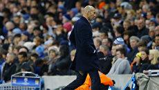 Главный тренер мадридского Реала Зинедин Зидан на матче полуфинала Лиги чемпионов против Манчестер Сити