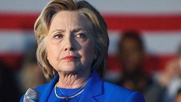 US candidato presidenziale del Partito democratico, Hillary Clinton.  foto d'archivio