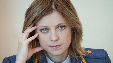 Repubblica di Crimea procuratore Natal'ja Poklonskaja.  foto d'archivio