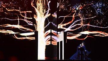 Джамала (Украина) во время генеральной репетиции финала 61-го международного конкурса песни Евровидение 2016 в Стокгольме. Архивное фото
