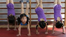 Занятия в олимпийской школе в Шанхае, Китай