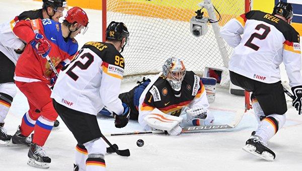 Хоккей. Чемпионат мира. Матч Россия - Германия