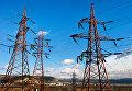 Высоковольтные электролинии вдоль трассы Симферополь-Севастополь в окрестностях Инкермана
