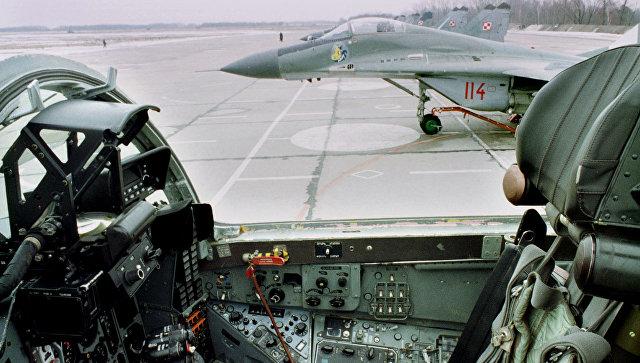 Истребители МиГ-29 ВВС Польше на аэродроме в Миньске-Мазовецком. Архивное фото