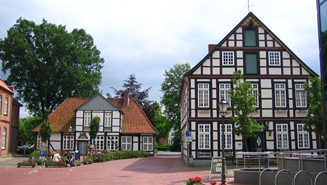 Город Квакенбрюк, Нижняя Саксония, Германия. Архивное фото