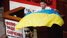 Надежда Савченко в Верховной раде Украины в Киеве. 31 мая 2016