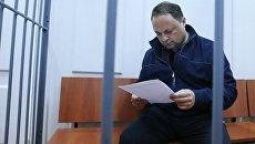 Мэр Владивостока Игорь Пушкарев в Басманном суде Москвы. Архивное фото