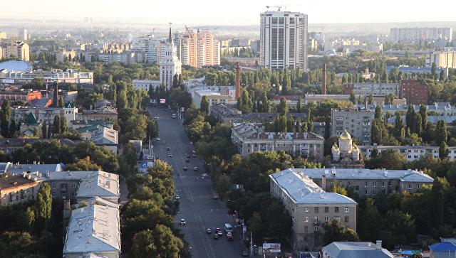 Вид на Кольцовскую улицу в Воронеже
