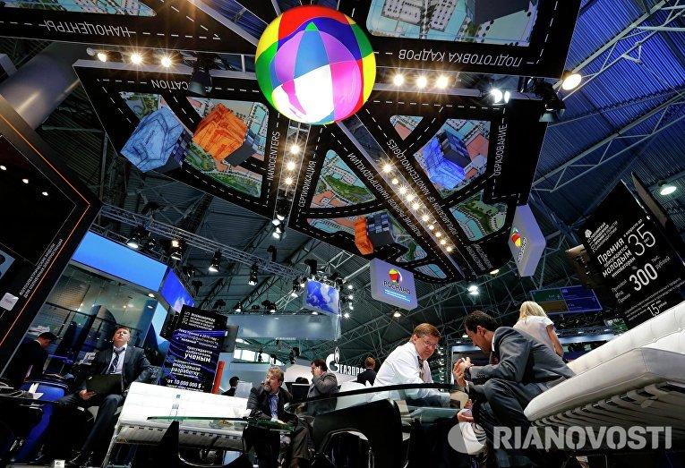 Павильон компании Роснано на XIX Петербургском международном экономическом форуме