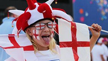 Английский болельщик перед началом матча группового этапа чемпионата Европы по футболу - 2016