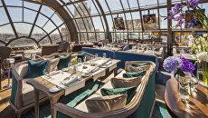 Вид из окна ресторана White Rabbit в Москве