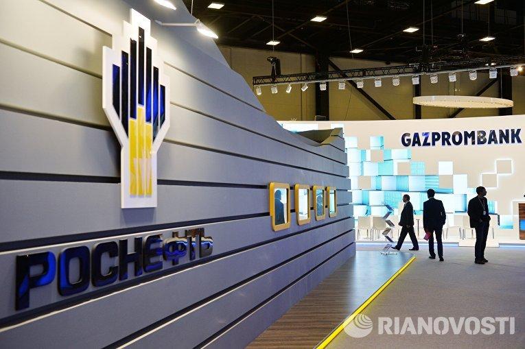 Павильоны Роснефти и Газпромбанка на выставке SPIEF Investment & Business Expo