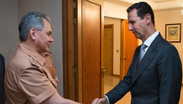 Рабочая поездка министра обороны РФ С.Шойгу в Сирию. Архивное фото