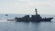 Американский эсминец Gravely в Средиземном море. Архивное фото