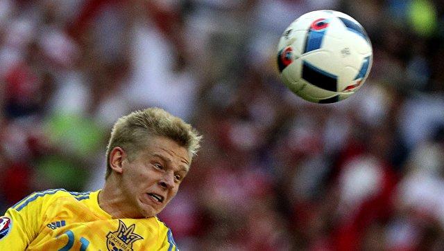 Игрок сборной Украины Александр Зинченко. Архивное фото