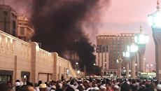 Место взрыва в Медине
