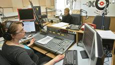 Работа радиостанции Эхо Москвы, архивное фото