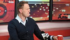 Выступление А. Навального в прямом эфире радиостанции Эхо Москвы. Архивное фото