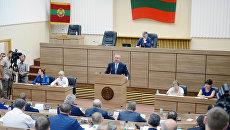 На пленарном заседании приднестровского парламента в Тирасполе. Архивное фото