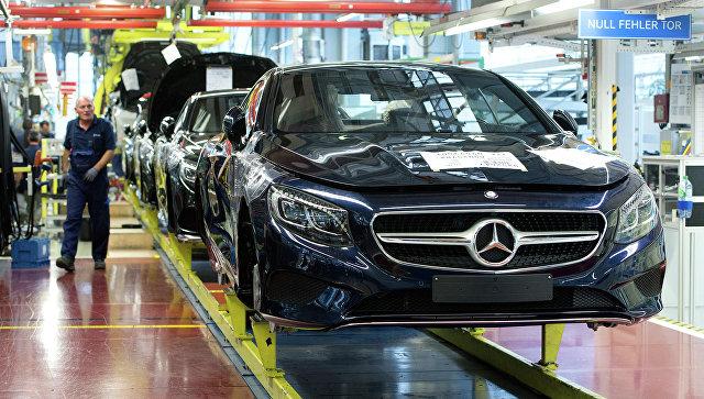 Производство автомобилей немецкой марки Mercedes-Benz. Архивное