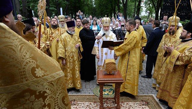 Освящение храма св. Иоанна Предтечи в Новодевичьем монастыре