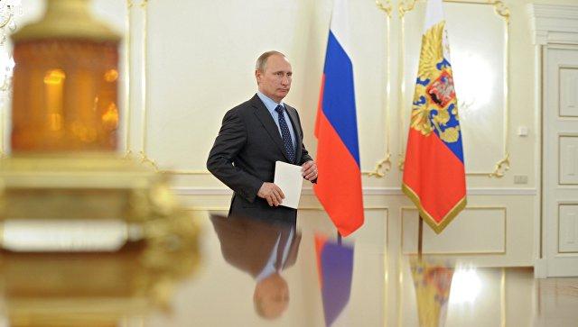 Президент России Владимир Путин в резиденции Ново-Огарево