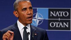 Президент США Барак Обама на самиите НАТО в Варшаве