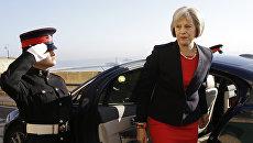 Британский политик Тереза Мэй во время саммита по миграции на Мальте
