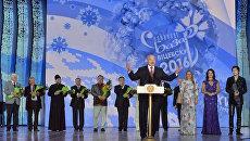 Президент Белоруссии Александр Лукашенко на открытии XXV Международного фестиваля искусств Славянский базар в Витебске