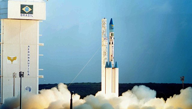 Запуск ракеты-носителя с бразильского космодрома Алкантара. Архивное фото