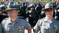 Акция протеста в Кливленде против полицейского произвола и расизма. Архивное фото
