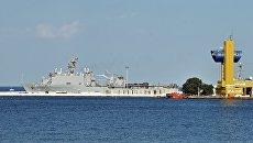 Корабли, участвующие в совместных американо-украинских учениях Sea Breeze-2016, в порту Одессы