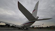 Самолет Ил-96 Специального летного отряда Россия. Архивное фото