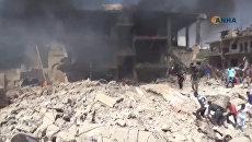Горящие здания, машины и паника людей: последствия теракта в сирийском Камышли
