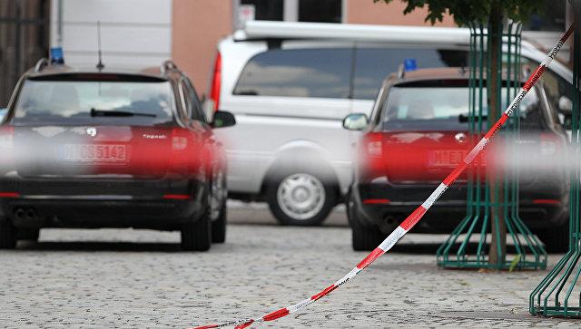 Автомобили полиции Германии. Архивное фото