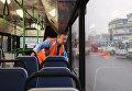 Осмотр салона автобуса