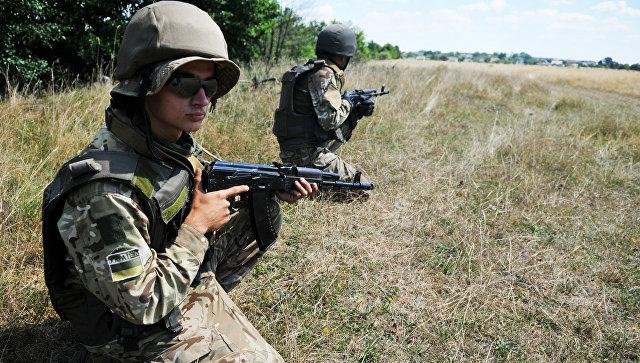 Учения украинских пограничных войск. Архивное фото